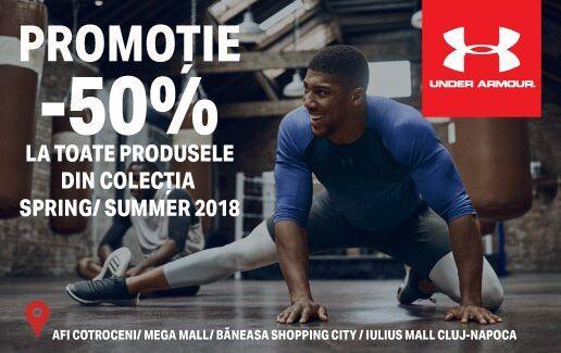 - 50% la colectia spring / summer 2018 pentru posesorii de card Virtual UA