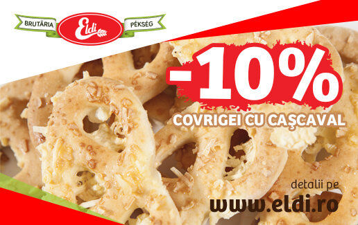 -10% reducere la COVRIGEI CU CAȘCAVAL ELDI (vrac)