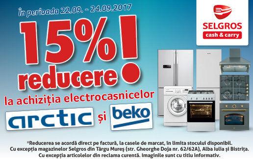 -15% la eletrocasnicele Arctic si Beko