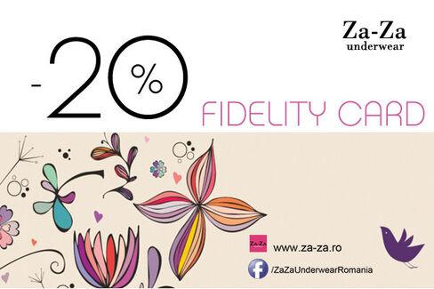 -20% la Za-Za, foloseste cardul