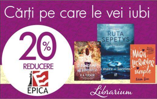 -20% la cartile editurii Epica