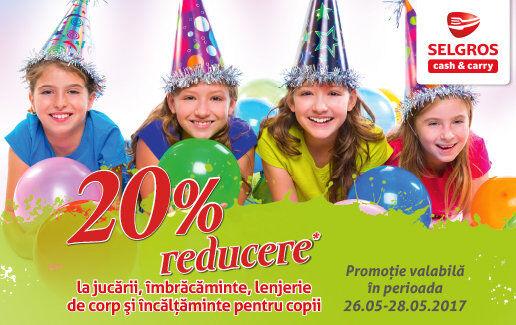 -20% pentru Ziua Copilului!