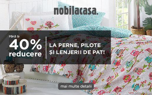-40% la perne, pilote si lenjerii de pat