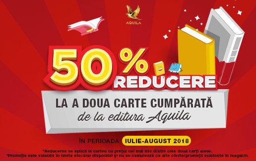 1+50% reducere la a doua carte cumparata de la editura Aquila