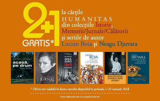 2+1 cadou la o selectie de carti ale editurii Humanitas