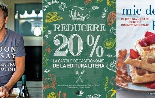 20% reducere la cartile de gastronomie