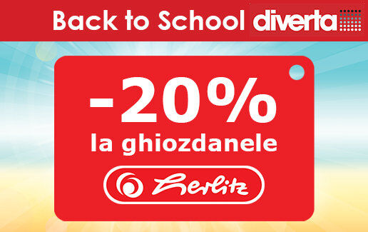 20% reducere la ghiozdanele si rucsacurile Herlitz
