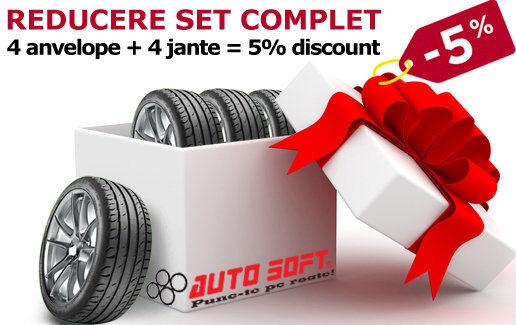 4 anvelope + 4 jante = 5% discount la Auto Soft!