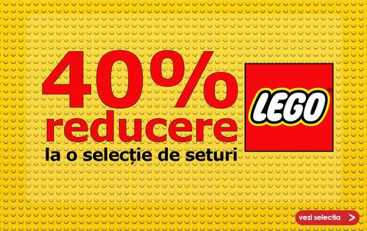 40% reducere la o selecție de seturi LEGO