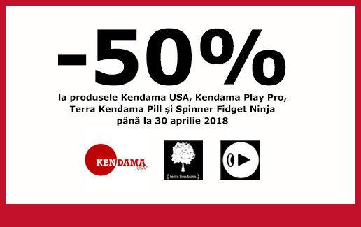 50% reducere la Kendama USA, Kendama Play, Pill și Fidget Spinner Ninja