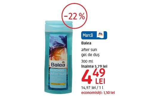 After sun gel de dus la 4,49 lei
