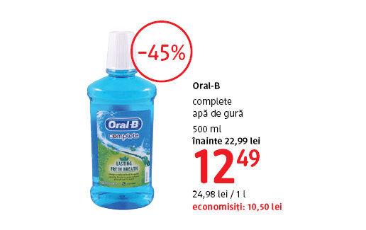 Apa de gura Oral-B la 12.49 lei