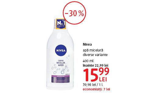 Apa micelara Nivea la 15.99 lei