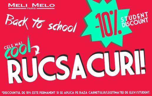 Back to School Meli Melo, -10% pentru studenti