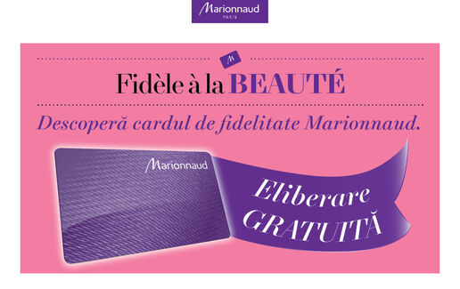 Beneficii Card Fidelitate Marionnaud