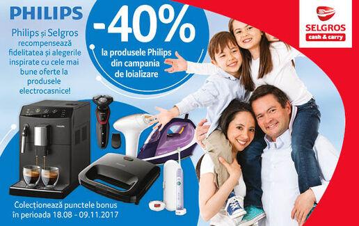 CAMPANIE PHILIPS 40% reducere