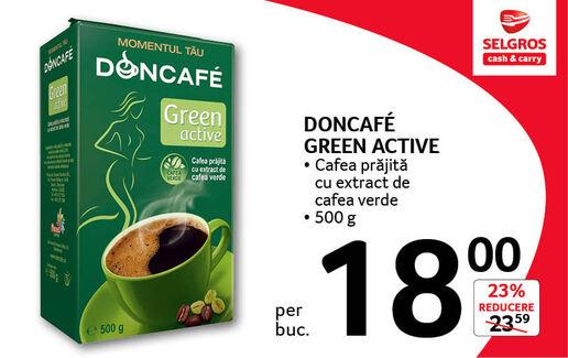 Cafea prajita cu extract de cafea verde la 18 lei