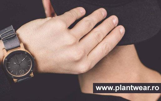 Ceasuri PLANTWEAR cu cadran din lemn sau piatra