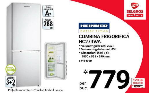 Combina frigorifica HC273WA la 779 lei