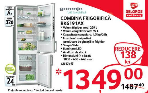 Combina frigorifica la 1349 lei