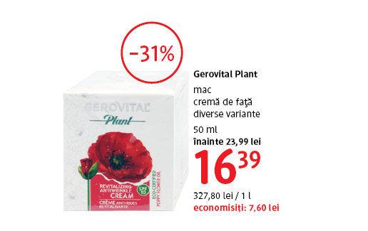 Crema de fata Gerovital Plant la 16.39 lei