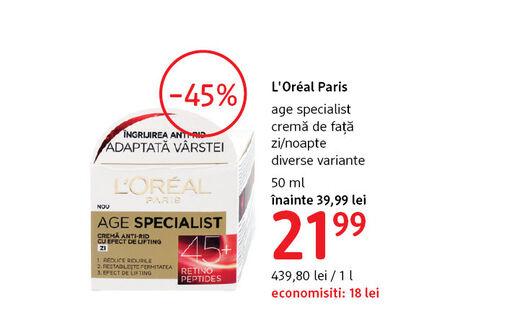 Crema de fata L'Oreal Paris la 21.99 lei