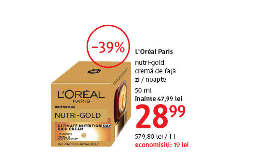 Crema de fata L'Oreal Paris la 28.99 lei