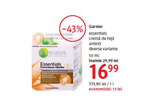 Crema de fata antirid Garnier la 16.99 lei
