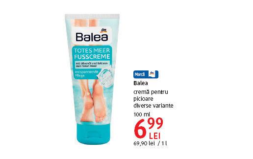 Crema pentru picioare Balea la 6.99 lei