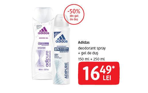 Deodorant + gel de dus Adidas la 16.49 lei