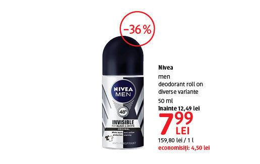 Deodorant Nivea men la 7.99 lei