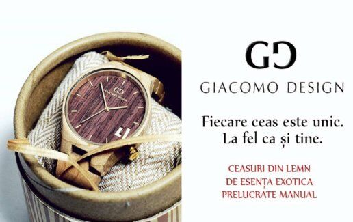 Descopera ceasurile Giacomo Design
