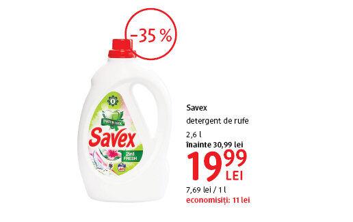 Detergent Savex la 19.99 lei