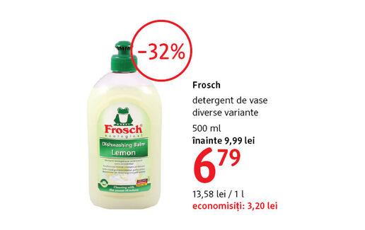Detergent de vase Frosh la 6.79 lei
