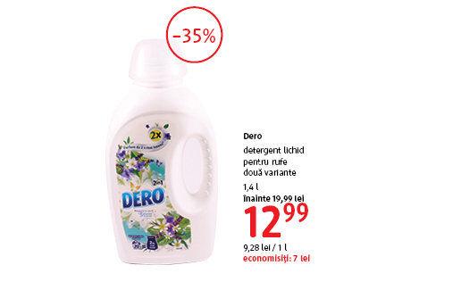 Detergent lichid Dero la 12.99 lei