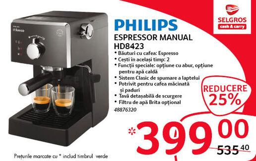 Espressor Philips la 399 lei