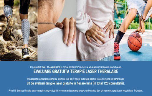 Evaluare gratuita terapie laser Theralase