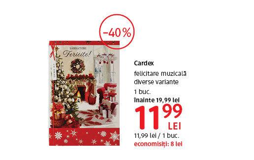 Felicitare muzicala Cardex la 11.99 lei