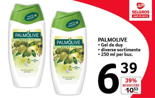 Gel de duș Palmolive la 6.39 lei
