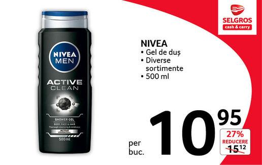 Gel de dus Nivea la 10.95 lei