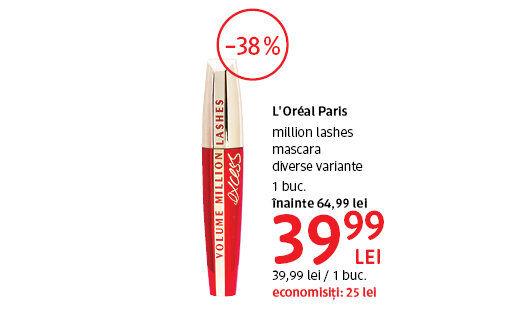 L'Oreal Paris mascara la 39.99 lei