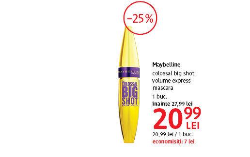 Mascara Maybelline la 20.99 lei