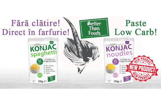 NOU în România! Paste din Konjac Fără clătire, Direct în farfurie! Încearcă-le Acum!