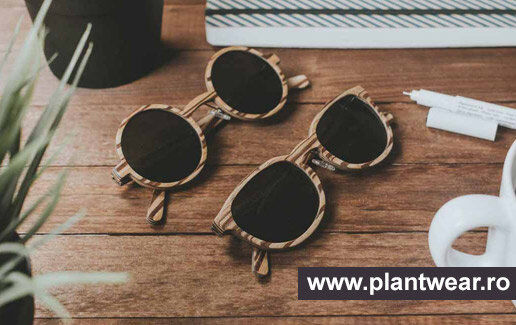 Ochelari cu rame din lemn si lentile polarizate