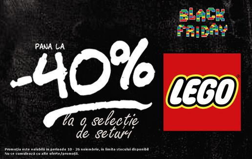 Pana la 40% reducere la LEGO