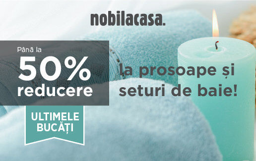 Pana la 50% reducere la prosoape si la seturi de baie