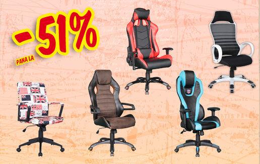 Pana la 51% reducere la scaune de birou