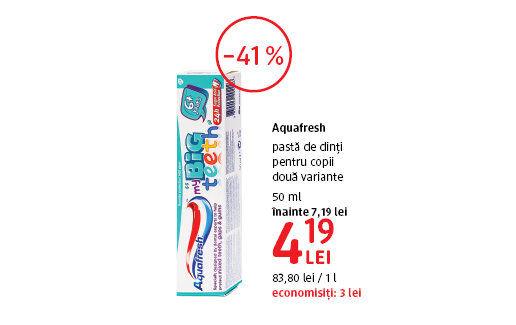 Pasta de dinti pentru copii la 4.19 lei