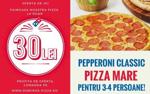 Pizza mare la pret mai mic