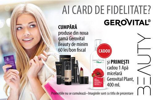 Primesti un CADOU la achizitionarea de produse din gama Gerovital Beauty!